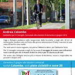 cartolina pista ciclabile
